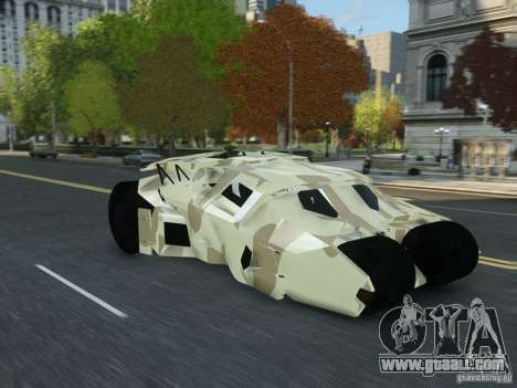 HQ Batman Tumbler for GTA 4 right view