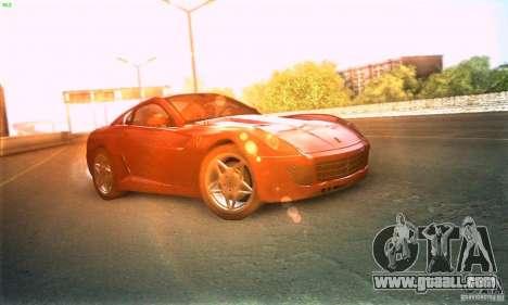 Ferrari 599 GTB Fiorano for GTA San Andreas back left view