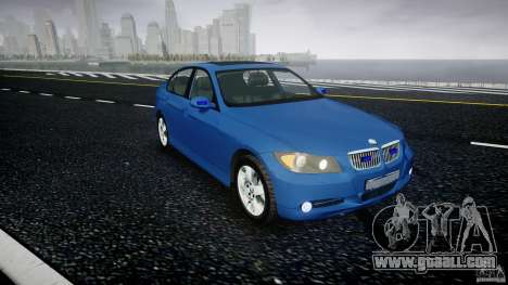 BMW 3-Series Unmarked [ELS] for GTA 4 right view