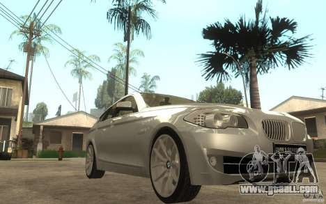 BMW 550i F10 for GTA San Andreas back view