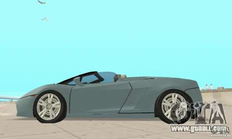 Lamborghini Gallardo Spyder for GTA San Andreas right view