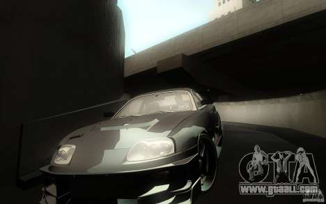Toyota Supra Chargespeed for GTA San Andreas interior