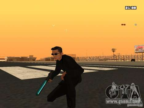 Blue Weapon Pack for GTA San Andreas second screenshot