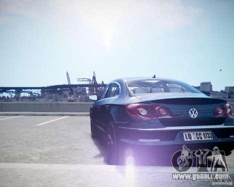 Volkswagen Passat CC for GTA 4 back left view