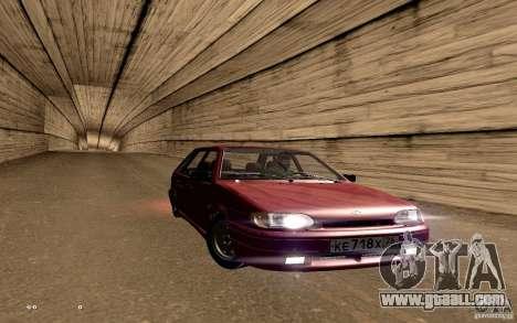 ВАЗ 2114 Quality for GTA San Andreas bottom view