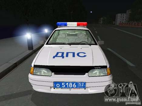 VAZ 2115 Police DPS for GTA San Andreas inner view