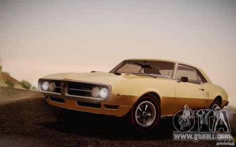 Pontiac Firebird 400 (2337) 1968 for GTA San Andreas back view