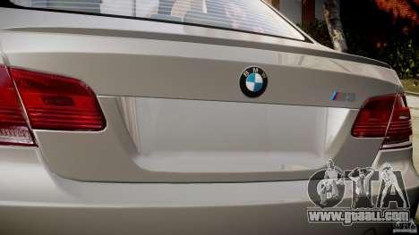 BMW M3 E92 for GTA 4 upper view