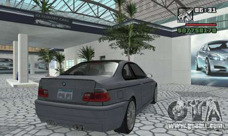 BMW M3 Tunable for GTA San Andreas back left view