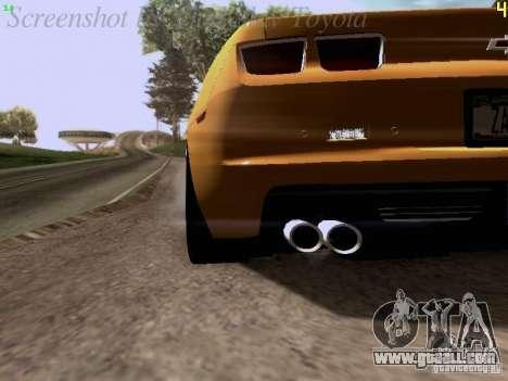 Chevrolet Camaro ZL1 2012 for GTA San Andreas inner view