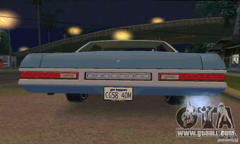 Mercury Monterey 1972 for GTA San Andreas side view