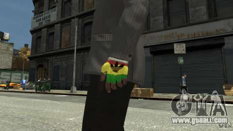 Adidas Rasta Gloves for GTA 4 second screenshot