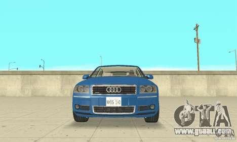 Audi A8L 4.2 FSI for GTA San Andreas interior