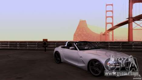 BMW Z4 V10 for GTA San Andreas inner view