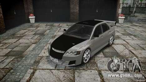Mitsubishi Lancer Evolution VIII v1.0 for GTA 4 back view