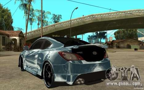 Hyundai Genesis Tuning for GTA San Andreas back left view
