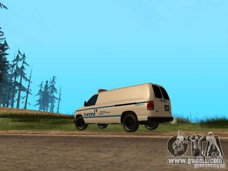Ford E-150 NYPD Police for GTA San Andreas back left view