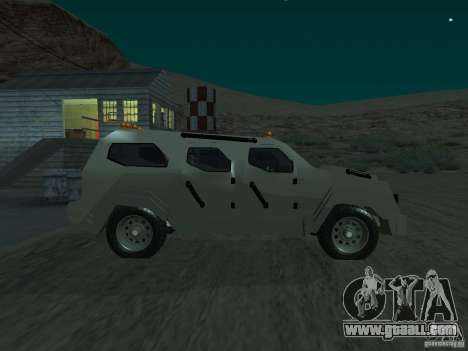 FBI Truck from Fast Five for GTA San Andreas left view