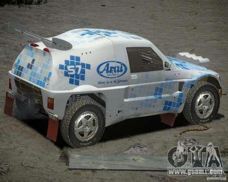 Mitsubishi Pajero Proto Dakar EK86 vinyl 3 for GTA 4 right view