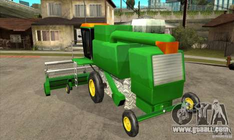 Combine Harvester Retextured for GTA San Andreas back left view