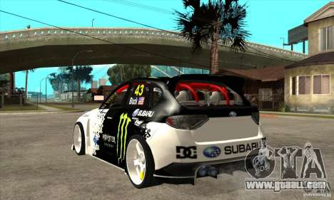 Subaru Impreza 2009 (Ken Block) for GTA San Andreas back left view
