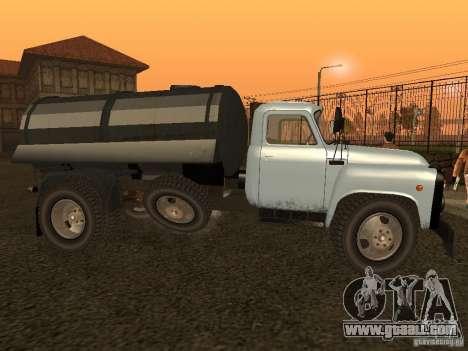 GAZ 53 Flusher for GTA San Andreas left view