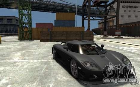 Koenigsegg CCXR Edition V1.0 for GTA 4 back view