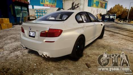 BMW M5 F10 2012 for GTA 4 side view