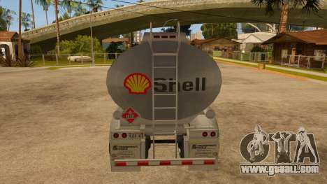 Semitrailer tank for GTA San Andreas right view