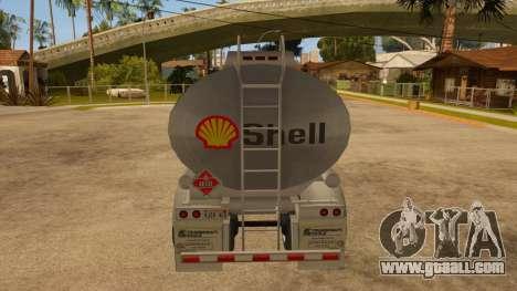 Semitrailer tank for GTA San Andreas right view