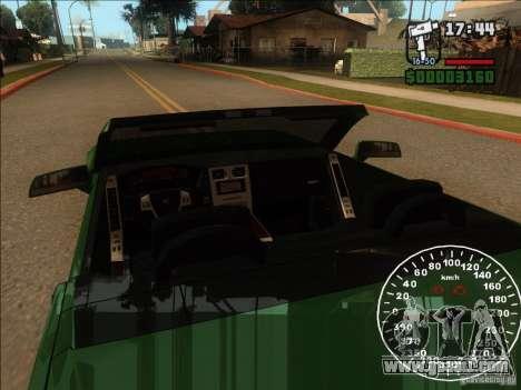 Cadillac XLR for GTA San Andreas upper view