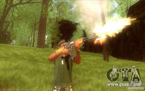 Kalashnikov HD for GTA San Andreas third screenshot