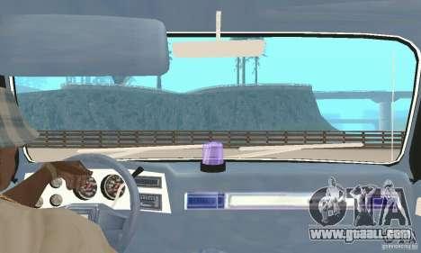 Chevrolet Suburban FBI 1986 for GTA San Andreas inner view
