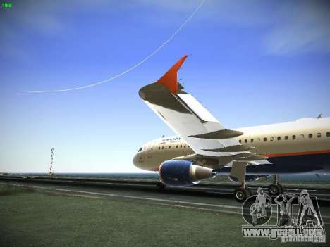 Aeroflot Russian Airlines Airbus A320 for GTA San Andreas left view