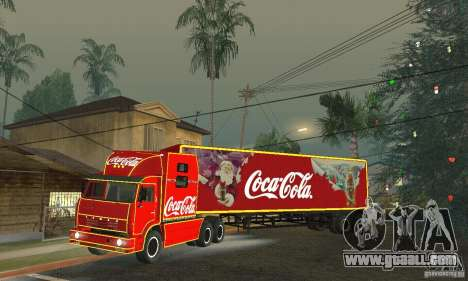 KAMAZ 54112 Christmas for GTA San Andreas