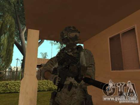 M4A1 with ACOG from CoD MW3 for GTA San Andreas