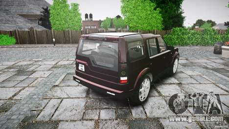 Land Rover Discovery 4 2011 for GTA 4 side view