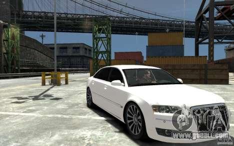 Audi A8L W12 Quattro for GTA 4 back view