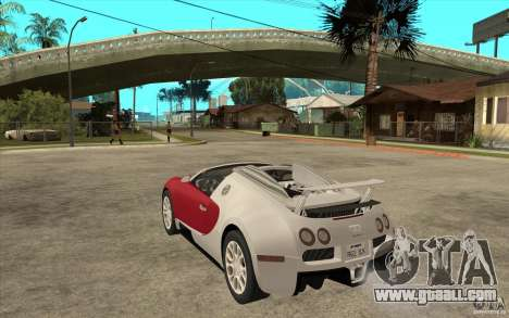 Bugatti Veyron Gran Sport 2011 for GTA San Andreas back left view