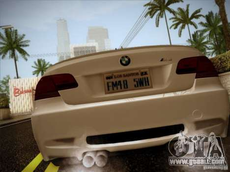 BMW E92 v2 Updated for GTA San Andreas back left view