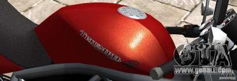 PCJ600 to Triumph StreeTTriple for GTA 4 left view