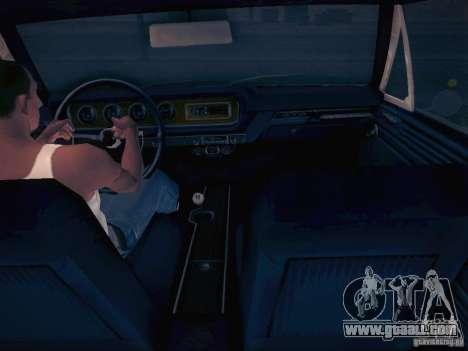 Pontiac GTO 65 for GTA San Andreas back view