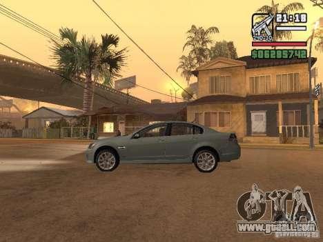 Pontiac G8 GXP for GTA San Andreas left view