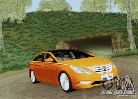 Hyundai Sonata 2012 for GTA San Andreas engine