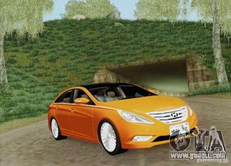 Hyundai Sonata 2012 for GTA San Andreas engine