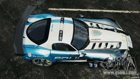 Dodge Viper SRT-10 ACR ELITE POLICE for GTA 4 right view