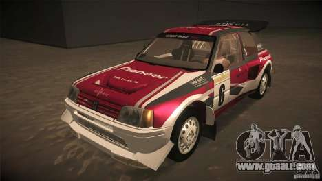 Peugeot 205 T16 for GTA San Andreas engine