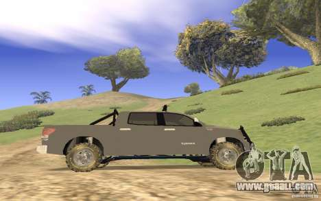 Toyota Tundra 4x4 for GTA San Andreas inner view