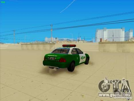 Nissan Sentra Carabineros De Chile for GTA San Andreas back left view