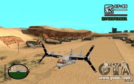 Bell V-22 Osprey for GTA San Andreas